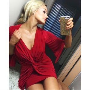 Dresses & Skirts - Misa Los Angeles red silky dress